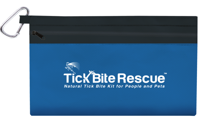 Tick Bite Rescue kit pouch transparent background